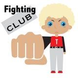 Vector cartoon image of fighting boy Stock Photo