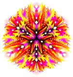 Fantasy flower ornament done in kaleidoscopic style.. Vector cartoon image. Scale to any size without loss of resolution Stock Photography