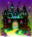 Illustration of a fairyland fantasy castle. Vector cartoon image. Scale to any size without loss of resolution Royalty Free Stock Image