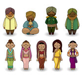Vector of cartoon Indian icon set Stock Image