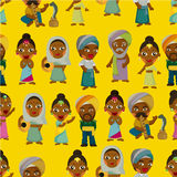 Vector of cartoon Indian seamless pattern Stock Photos