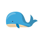 Vector cartoon isolated cute whale Stock Image