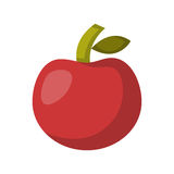 Vector cartoon isolated red apple Stock Image