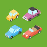 Vector Cartoon Isometric Cars Stock Images