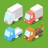 Vector Cartoon Isometric Cars Stock Photo