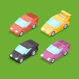 Vector Cartoon Isometric Super Cars Stock Photos