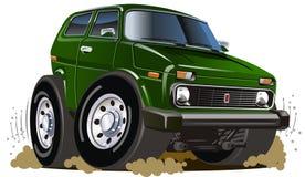 Vector cartoon jeep Royalty Free Stock Image