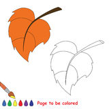 Vector cartoon leaf to be colored. Royalty Free Stock Photo