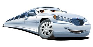 Vector cartoon limousine Royalty Free Stock Image