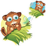 Vector cartoon little animals Stock Photography