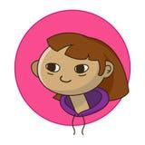 Vector cartoon little girl flat vector illustration stock photography