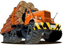 Vector cartoon logging truck. Available ai-10 vector format separated by groups for easy edit Stock Photography