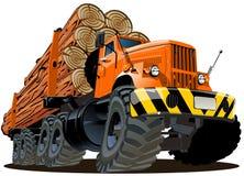 Vector cartoon logging truck stock photography