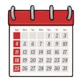 Vector Cartoon Loose-leaf Calendar Royalty Free Stock Photography