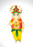 Vector Cartoon of Lord Ganesh Stock Photography