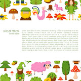 Vector cartoon magic forest background Stock Images
