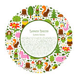 Vector cartoon magic forest background Royalty Free Stock Photo