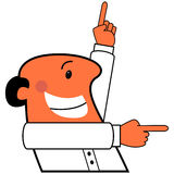 Vector cartoon man pointing Royalty Free Stock Photography