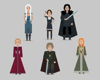 Vector cartoon medieval characters. Flat style stock illustration
