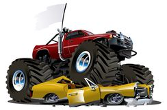 Vector Cartoon Monster Truck Royalty Free Stock Photo