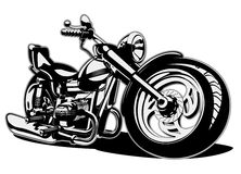 Vector Cartoon Motorbike Royalty Free Stock Images