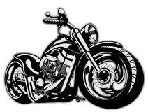 Vector Cartoon Motorbike Royalty Free Stock Photo