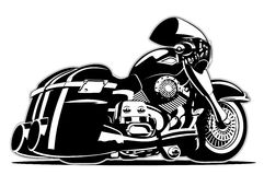 Vector Cartoon Motorbike Stock Image