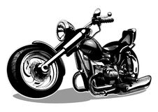 Vector Cartoon Motorbike Stock Photography