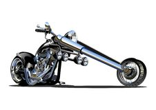 Vector Cartoon Motorbike stock images