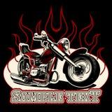 Vector Cartoon Motorbike Stock Photo