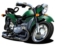 Vector Cartoon Motorcycle Stock Photos