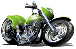 Vector Cartoon Motorcycle Stock Image