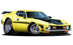 Vector cartoon muscle car Royalty Free Stock Photography
