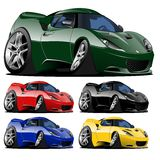 Vector cartoon muscle car Stock Photo
