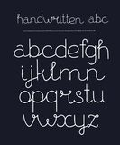 Handwritten calligraphy elegant font. Vector cartoon neon font thin handwritter script. Modern calligraphy handdrawn typeface. Simple one stroke outline Royalty Free Stock Image