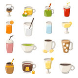 Vector cartoon non alcoholic drinks Stock Images