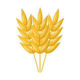 Vector cartoon oat seeds. Vector illustration with cartoon oat seeds. Vector cereal isolated icon. Harvesting autumn cartoon background. Gold oat ear with seeds Royalty Free Stock Image