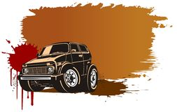 Vector cartoon off-road vehicle Royalty Free Stock Photos