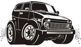 Vector cartoon off-road vehicle. Vector cartoon off-road 4x4 car. Available AI-10 vector format Stock Illustration
