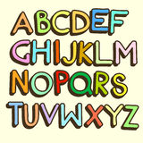 Vector Cartoon Сolorful Alphabet Letters Royalty Free Stock Photo