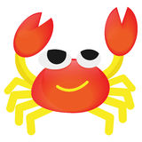 Vector Cartoon  orange Crab  funny. Cartoon character Crab it is funny Royalty Free Stock Image