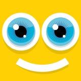 Vector Cartoon Orange Monster Face Royalty Free Stock Photos