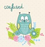 Vector cartoon owl Stock Images