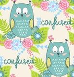 Vector cartoon owl Royalty Free Stock Photos