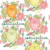 Vector cartoon owl. Vector illustration of a cartoon happy owl. Anticipation Stock Photos