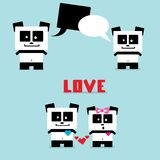 Vector cartoon Panda bear character Royalty Free Stock Photography