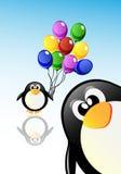 Vector cartoon penguins Stock Images