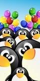 Vector cartoon penguins Stock Photos