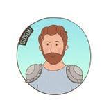Vector cartoon portrait of Gideon. Bible illustration for kids Royalty Free Stock Photos