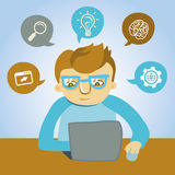 Vector cartoon programmer Royalty Free Stock Photo